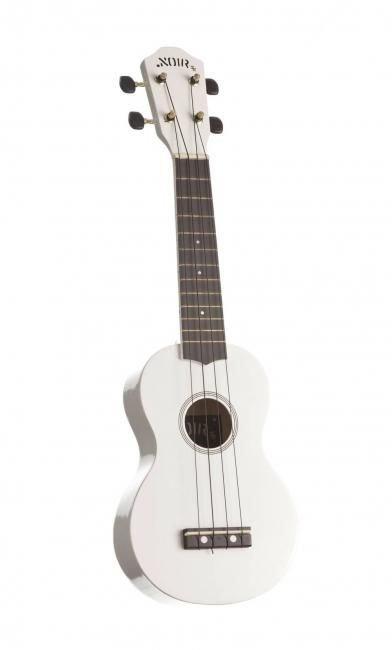 NOIR Valkoinen ukulele Baton Rouge Noir NU-1S