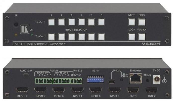 KRAMER VS-62H 6x2 4K HDMI matriisi katkaisin 4K