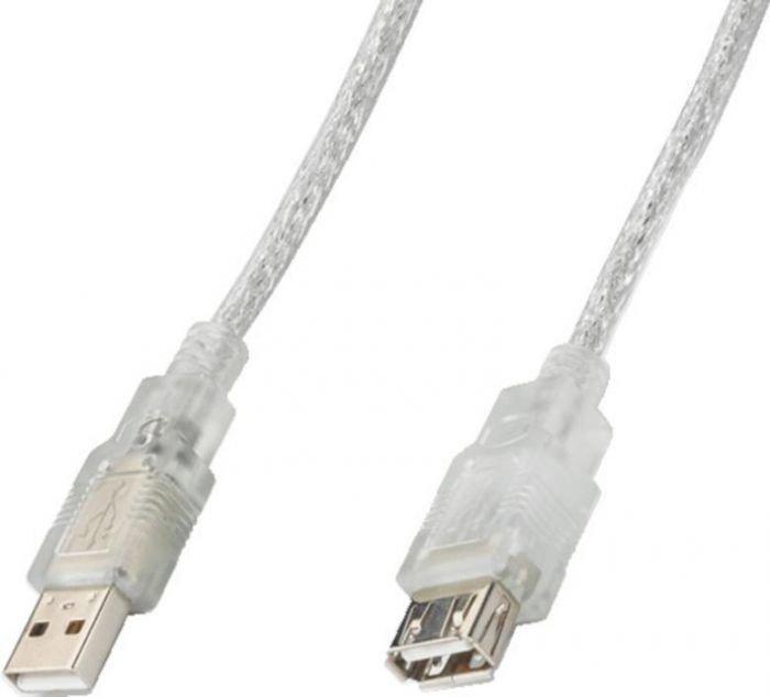 MONACOR USBV-2025AA, USB-kaapeli 1,8m liittimillä
