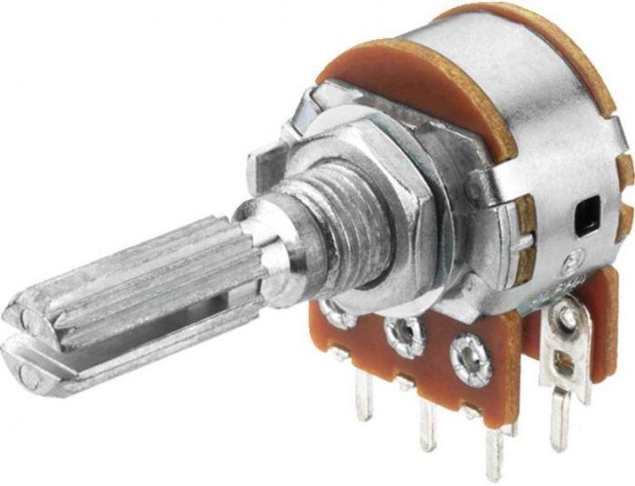 MONACOR VRA-100S10 Potentiometers, stereo, With