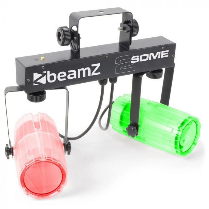 BEAMZ 2-Some LED-valosetti 3x57 RGBW LED