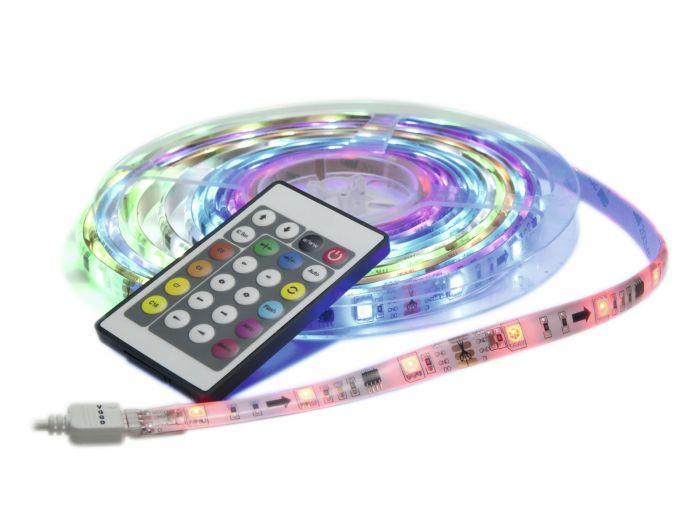EUROLITE LED IP PIXEL Strip Set Deluxe 5m RGB LED-nauhasetti - IP44 - sis kaukosäädin ja virtalähde