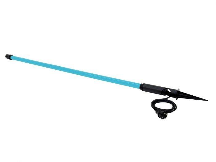 EUROLITE Neon Stick T8 36W ulkokäyttöön IP44 neonputki 134cm sininen 360°, mitat 60 x 60 x 1540mm maakiilan kanssa, paino 0,8kg
