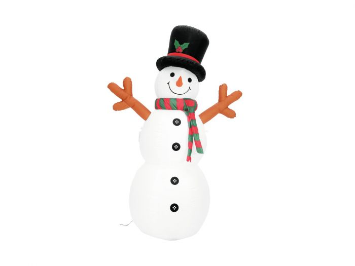 EUROPALMS Ilmalla täyttyvä Lumiukko, 180cm