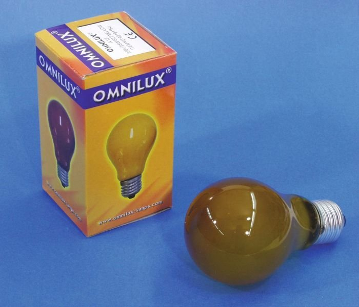 OMNILUX A19 Lamppu 25W E27 230V keltainen