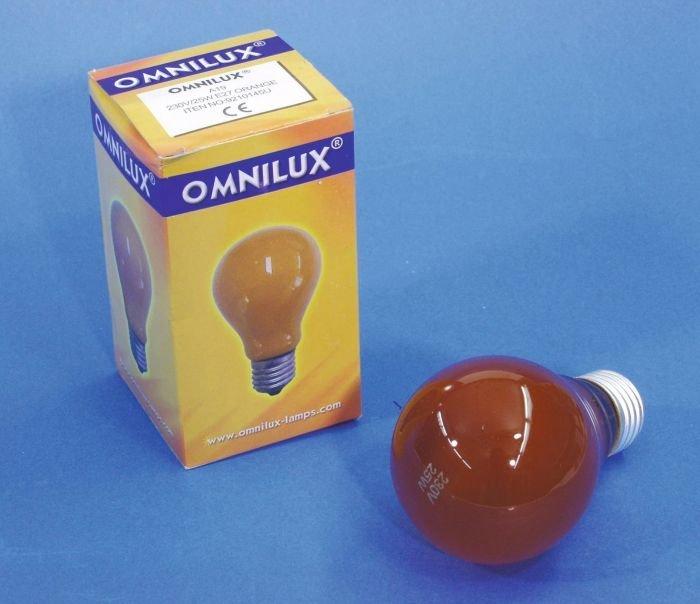 OMNILUX A19 Lamppu 25W E27 230V oranssi