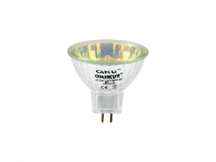 OMNILUX JCDR 35W Halogeenilamppu GX5.3 230V keltainen 1500h 50mm heijastin himmennettävä