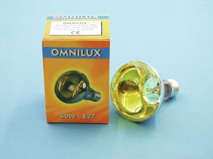 OMNILUX R80 Lamppu 60W E27 230V keltainen