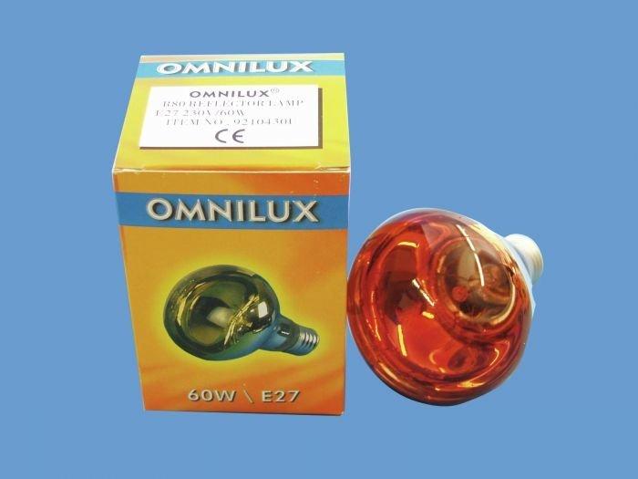 OMNILUX R80 Lamppu 60W E27 230V oranssi