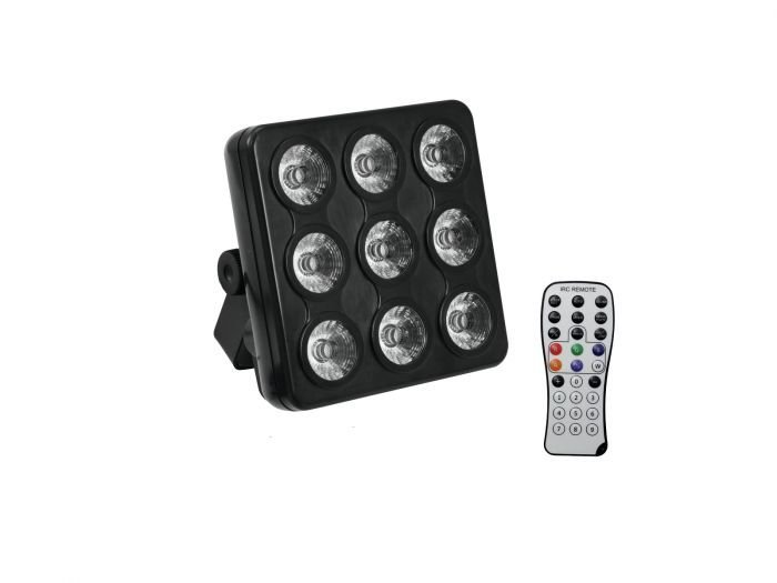 VUOKRAA LED Party Panel 9x 4W QCL LED 15 RGB+UV
