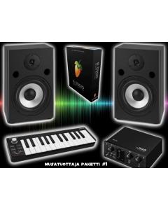 Musatuottaja paketti #1 - FL Studio ohjelma, SM65 aktiivimonitorit, MX-1IO äänikortti, KEY-25 midisyna