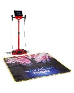 fenton-ksm15w-punainen-karaoke-setti-valaistulla-lavamatolla