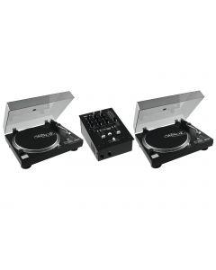 omnitronic-set-pm-222-2x-dd-2520 levysoittimet ja mikseri