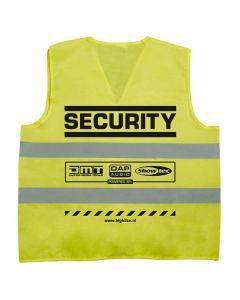SHOWTEC - Järjestyksenvalvojan ja henkilöstön keltainen huomioliivi