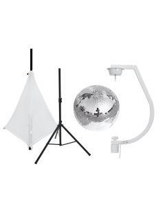 tuotepaketti-eurolite-30cm-discopallo-standilla-ja-valkoinen-suojakangas